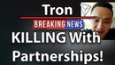Tron (TRX) Partnerships Justin Sun Interview!