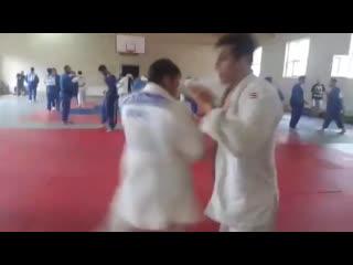 Georgian judo training