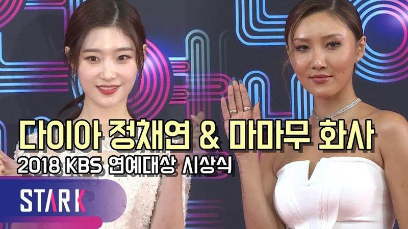 다이아 정채연47560마무 화사, 천사 같은 순백의 드레스 입고 등장(DIA Jung ChaeYeon, KBS Entertainment Awar