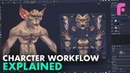 Full 3D Character Workflow Explained - Sculpting, Retopo Textures