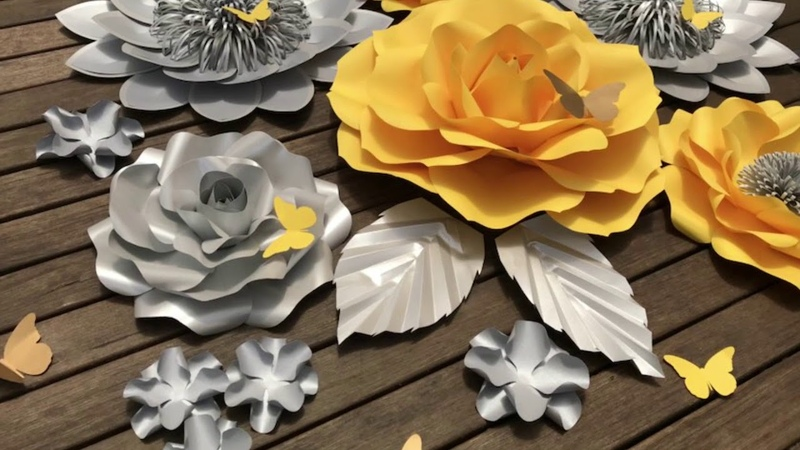 Paper flower backdrop_nursery decor_party styling_baby shower_bridal shower