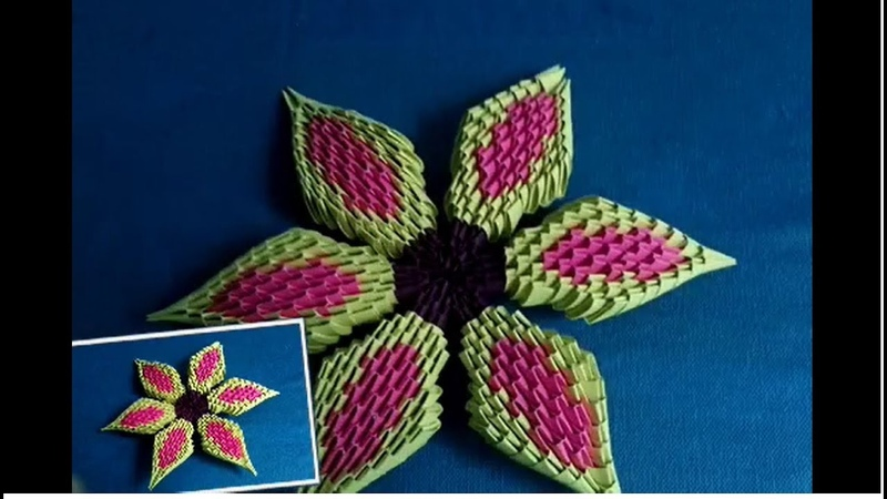 How to make a flower by 3d origami paper - hướng dẫn làm bông hoa giấy bằng giấy xếp origami 3d
