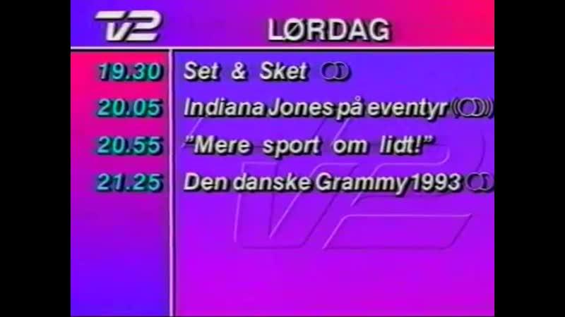 Программа передач и конец эфира (TV 2 [Дания], 17.02.1993)