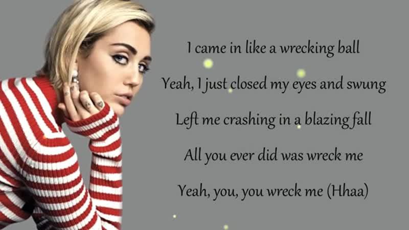 Miley Cyrus - WRECKING BALL (Lyrics) - YouTube