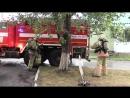 На объекте здравоохранения зауральские огнеборцы провели учения