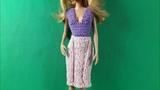 Урок вязания юбки-карандаш для Барби. Мастер-класс.