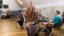 Создание гигантской шишки из изолона на живом мастер-классе
