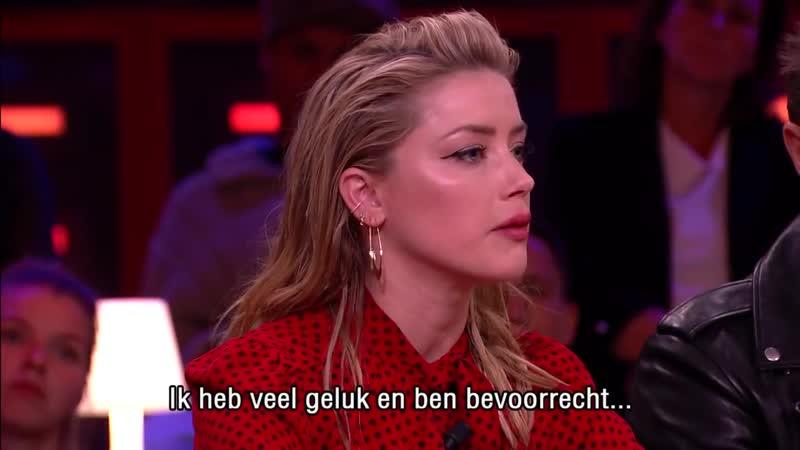 Эмбер Хёрд на шоу RTL Late Night в Гааге (18102018)