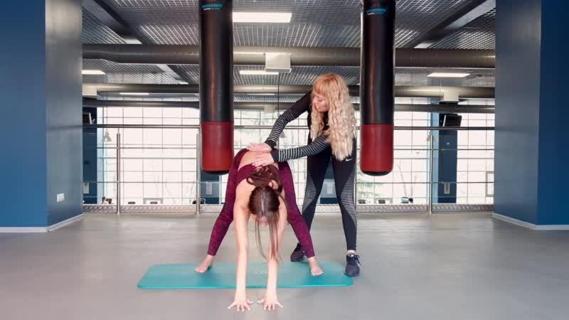 Упражнения на развитие гибкости и подвижности тазобедренных суставов с Евгенией и Настей