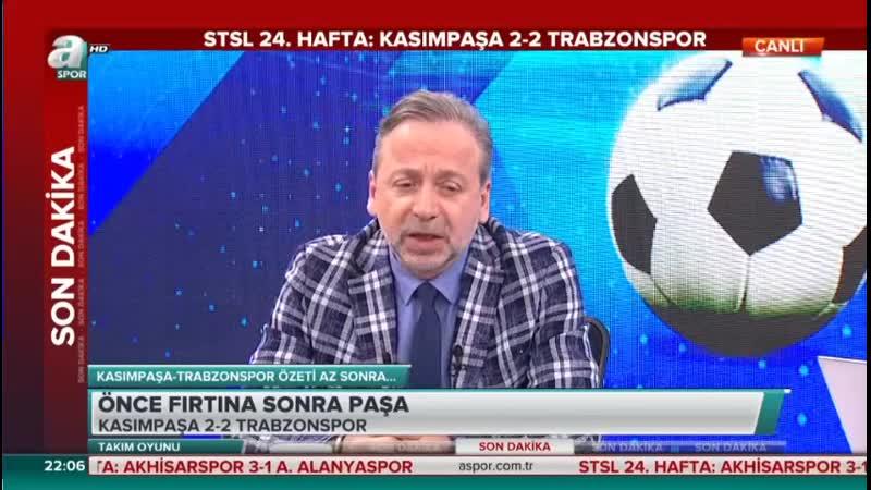 Kasımpaşa 2-2 Trabzonspor - Zeki Uzundurukan Yorumları