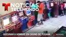 El impactante video de un asesinato en un casino de Tijuana | Noticiero | Telemundo