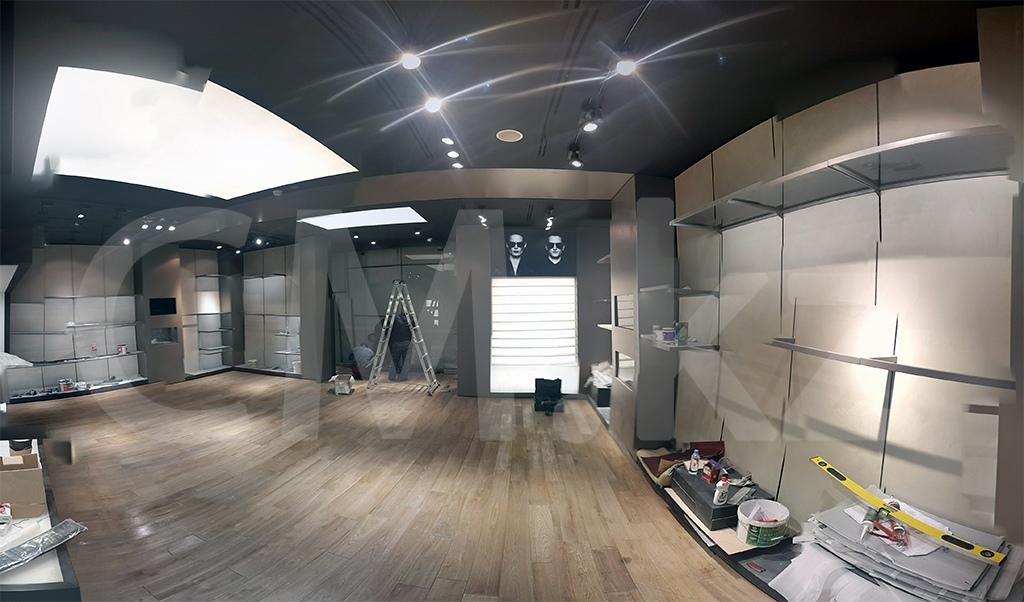 Процесс строительства бутика в Алматы