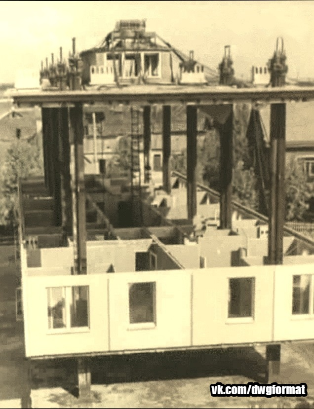 Строительство методом подъема этажей в Советском Союзе