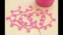 ШНУР ГУСЕНИЧКА С ЗАВИТКАМИ вязание крючком для начинающих How to Crochet for Beginners