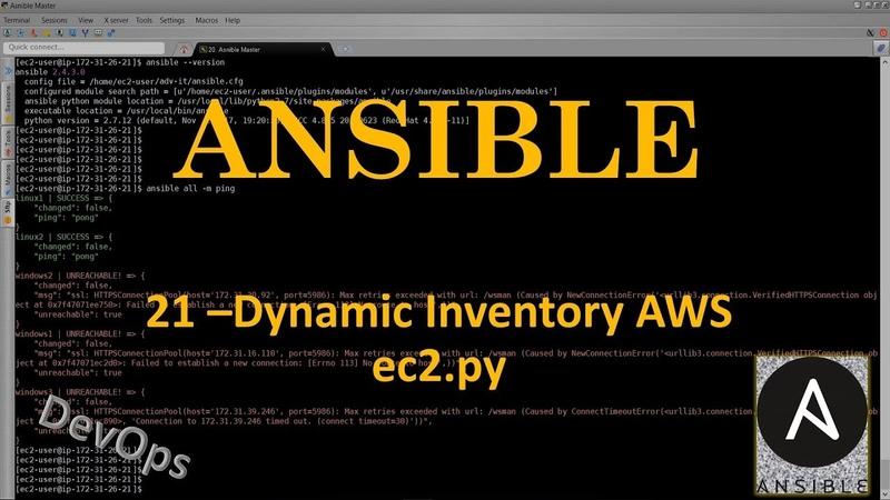 21-Ansible - Dynamic Inventory AWS - Amazon Web Services - ec2.py