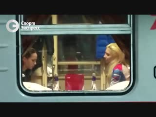 Алина Загитова на поезде Москва-Саранск