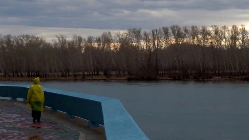 Усть Каменогорск слияние Иртыша и Ульбы весна 2017 год