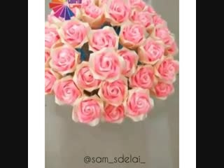 Букет красивых роз своими руками 🌸
