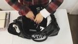 Top Leather Gym Waterproof Sport Shoe Bag for Women Fitness Over the Shoulder Yoga Bag