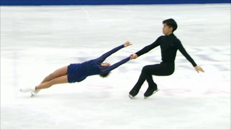 Китайские фигуристы Венжинг Суи и Конг Хан становятся чемпионами мира 2019 Произвольная программа