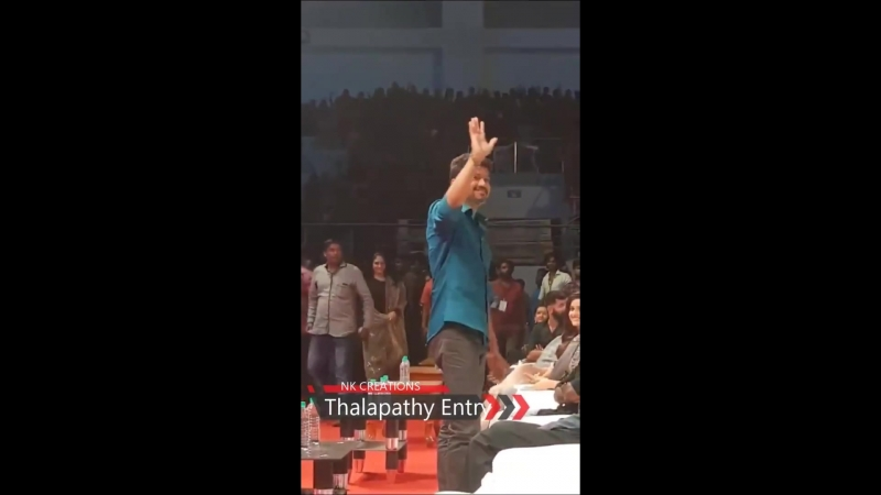 Sarkar Audio Launch-Thalapathy Mass Entry Vera level fans response