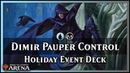 Dimir Control Alternate Art Holiday Deck Pauper Event Magic Arena