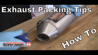How To Repack A Motorcycle/ATV Silencer   Exhaust Packing