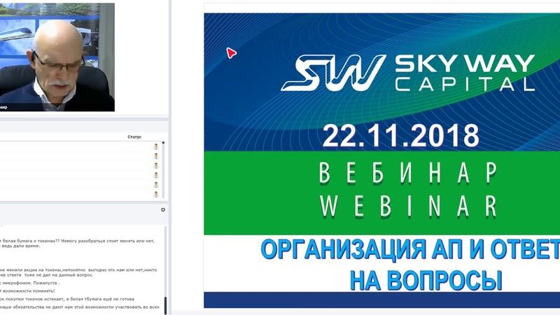 22.11.2018г. Организационно - экономический и правовой вебинар SkyWay. Владимир Маслов.