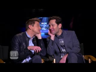 Paul Rudd, Jeremy Renner Received Cold Welcome On Set Of 'Endgame' - EXTENDED - YouTube