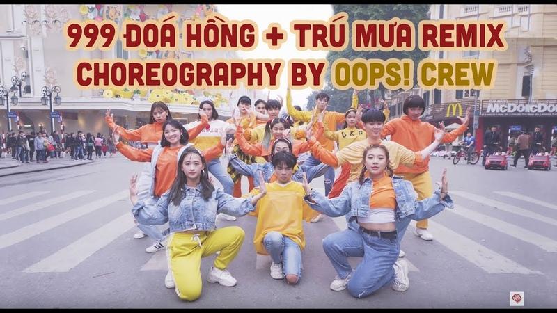 Trú Mưa 999 Đóa Hồng Mắt Nai Cha Cha Cha Remix - Oops! Crew Nhảy cực bốc trên Phố đi bộ 2019