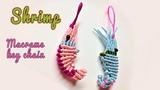 How to make a 3D Shrimp macrame key chain -Easy macrame animal tutorial - h