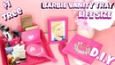 DOLLAR TREE BARBIE LIFE SIZE VANITY TRAY AND MORE TUTORIAL