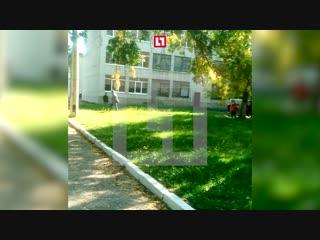 Момент взрыва в колледже Керчи