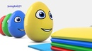 Learn colors with Surprise eggs Xylophone and Finger Family 3D Cartoons for children Video for kids