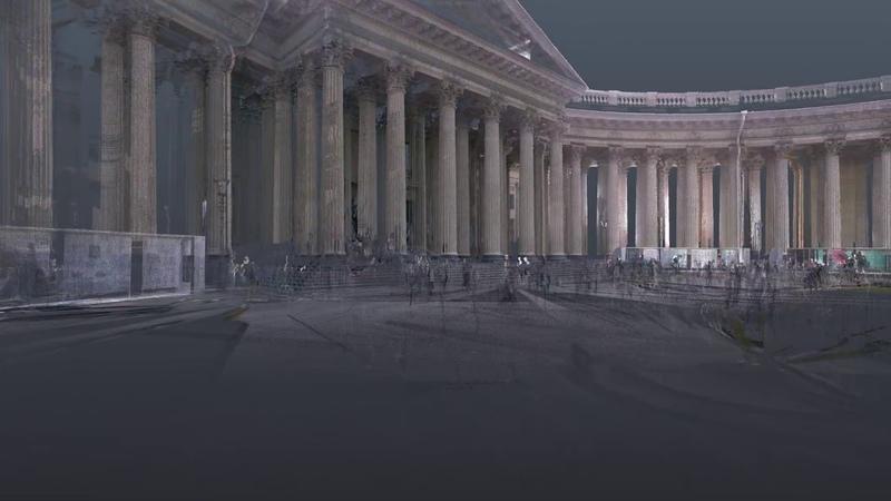 3D модель фасада Казанского собора