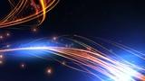 4K Motion Background 2160p Orange Blue Dark Glow Waves Animation