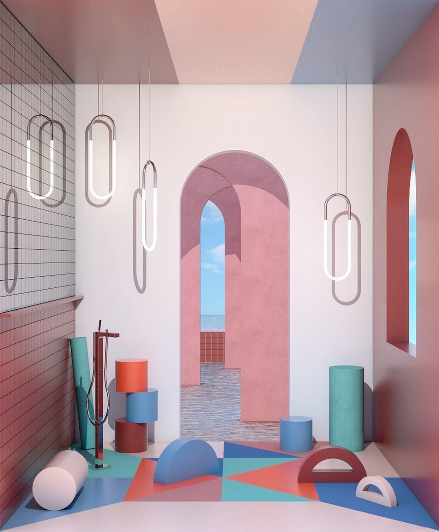 The Stylish 3D Interior Renderings of Ana de Santos