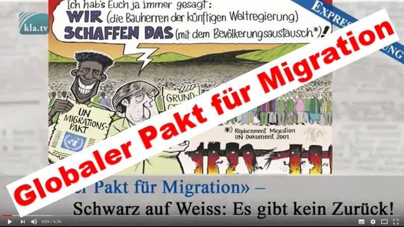 Globaler Pakt für Migration» – Schwarz auf Weiss