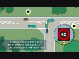 Как работают инновационные дорожные знаки, ограничивающие скорость на перекрестках