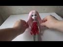 Как сделать парик для куклы из тресс 1 часть