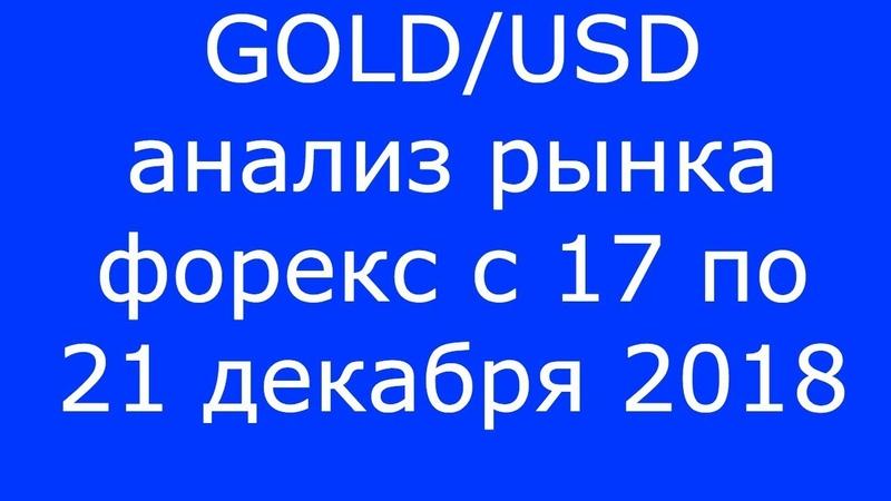 GOLDUSD - Еженедельный Анализ Рынка Форекс c 17 по 21.12.2018. Анализ Форекс.