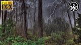 Дождь с громом звуки природы, шум дождя. 9 часов релакса для сна