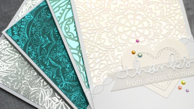 Foiled Backgrounds - Stencils and Stamps