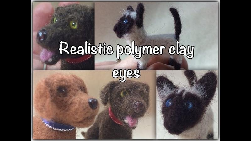 How to make realistic miniature polymer clay eyeballs nose* Kaip padaryti polimerines akis*