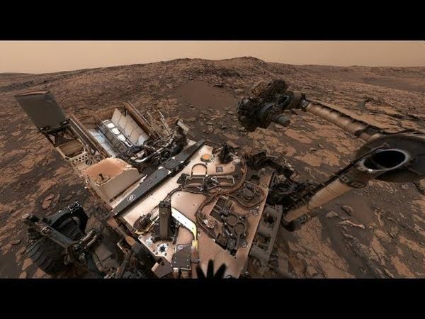NASA's Curiosity Mars Rover on Vera Rubin Ridge 360 View