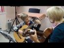Иван, 10 лет, и Ярослав, 12 лет, гитарная студя Аккорд, Сыктывкар