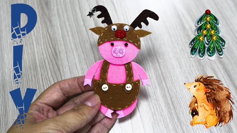 PIG - Symbol 2019 year 1Поросенок - символ 2019 года 1