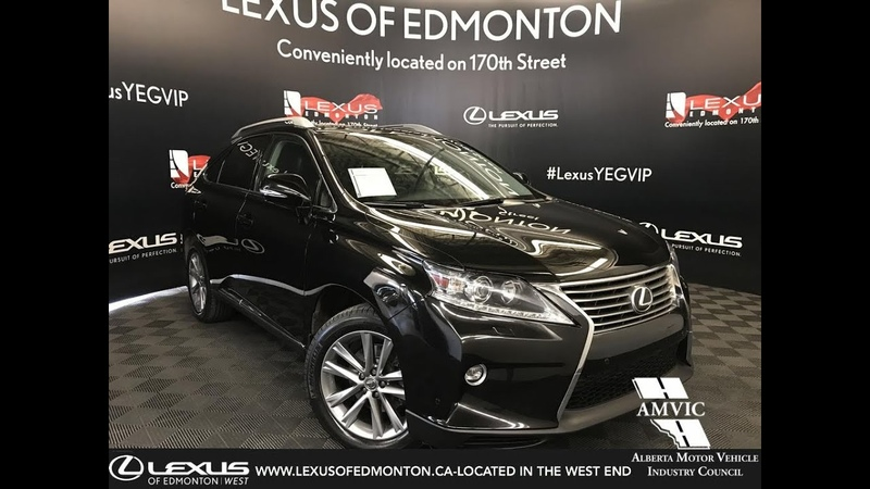 Used Black 2015 Lexus RX 350 Technology Package Review Gibbons Alberta