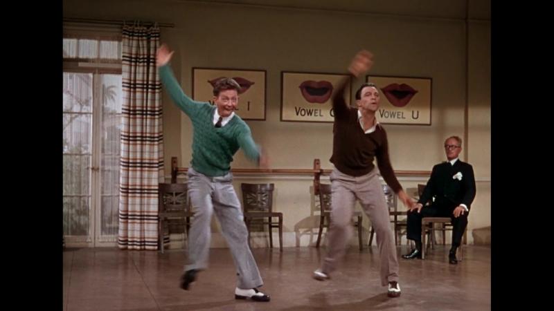 Gene Kelly Donald O'Connor Dance Duet in Singin' In The Rain