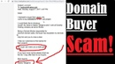 Domain Name Buyer Scam Domain Appraisal Certificate Scam